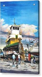 Tugboat Brown Gulf Acrylic Print