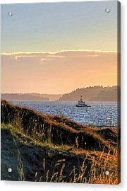 Tugboat Twilight - Chambers Bay Golf Course Acrylic Print by Chris Anderson