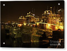 Tugboats 1st Night Dec 2013 Acrylic Print