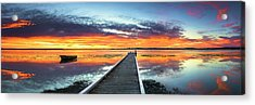 Tuggerah Lake Jetty Acrylic Print by Bruce Hood