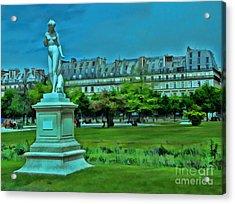 Tuileries Gardens Acrylic Print by Allen Beatty