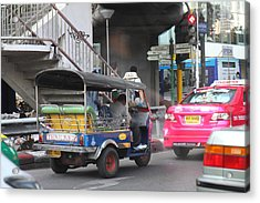 Tuk Tuk - City Life - Bangkok Thailand - 01131 Acrylic Print by DC Photographer