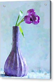 Tulip Abstract Acrylic Print by Betty LaRue