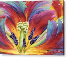 Acrylic Print featuring the painting Tulip Color Study by Jane Girardot