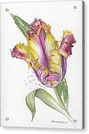 Acrylic Print featuring the painting Tulip -  Elena Yakubovich by Elena Yakubovich