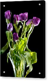 Acrylic Print featuring the photograph Tulip Impressions Vi by Penny Lisowski