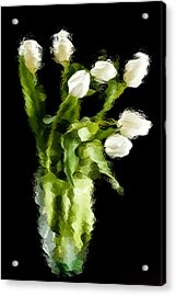 Acrylic Print featuring the photograph Tulip Impressions Vii by Penny Lisowski
