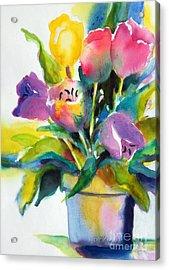 Tulip Pot Acrylic Print by Kathy Braud