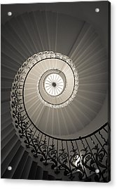 Tulip Stairs From Below Acrylic Print by Ross Henton