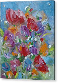 Tulip Symphony Acrylic Print by Judith Rhue