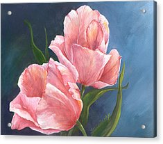 Acrylic Print featuring the painting Tulip Waltz by Sherry Shipley