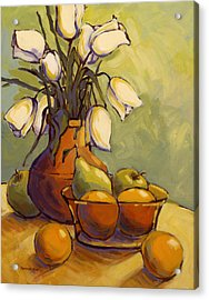 Acrylic Print featuring the painting Tulips 1 by Konnie Kim