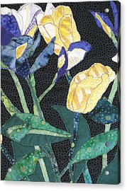 Tulips And Irises Detail Acrylic Print by Lynda K Boardman