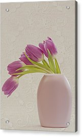 Tulips And Lace Acrylic Print