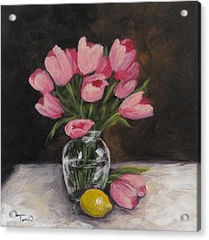 Tulips And Lemon Acrylic Print by Torrie Smiley