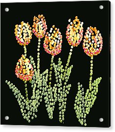 Tulips Bedazzled Acrylic Print by R  Allen Swezey