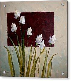 Tulips Acrylic Print by Bob Pennycook