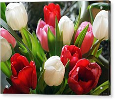 Acrylic Print featuring the photograph Tulips by Deborah Fay