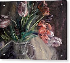 Acrylic Print featuring the painting Tulips by Donna Tuten