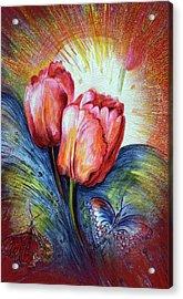 Tulips Acrylic Print by Harsh Malik