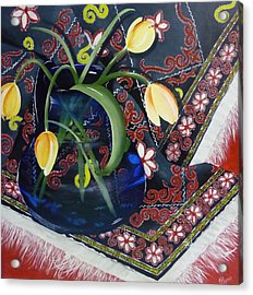 Acrylic Print featuring the painting Tulips by Helen Syron