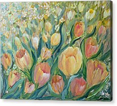 Tulips II Acrylic Print by Joanne Smoley
