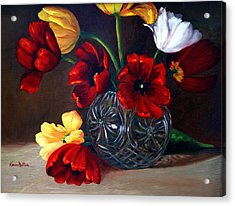 Tulips In Crystal Acrylic Print