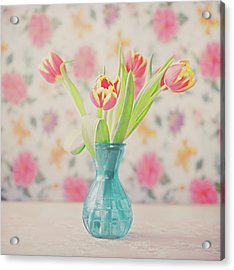 Tulips Acrylic Print by Julia Davila-lampe