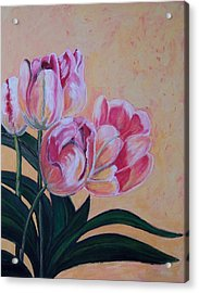Tulips Acrylic Print by Krista Ouellette
