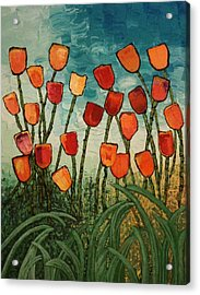 Acrylic Print featuring the painting Tulips by Linda Bailey