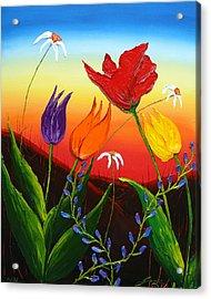 Tulips Of Woodburn Oregon Acrylic Print by Portland Art Creations