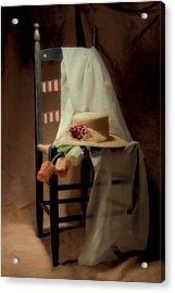 Tulips On A Chair Acrylic Print by Tom Mc Nemar