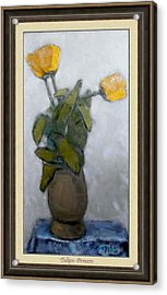 Acrylic Print featuring the painting Tulips by Pemaro