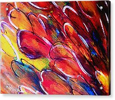 Tulips Swaying Acrylic Print
