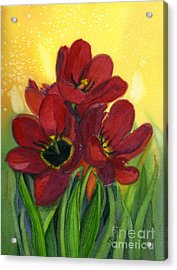 Tulips Acrylic Print by Teresa Boston