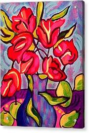 Tulips With Fruit Acrylic Print