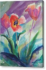 Tulips With Lavender Acrylic Print