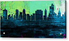 Tulsa City Skyline Acrylic Print by Naxart Studio