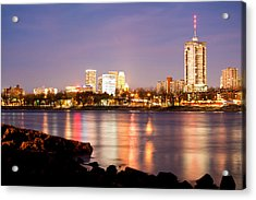 Tulsa Oklahoma From The Shoreline Acrylic Print