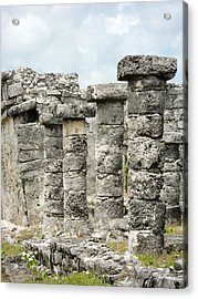 Acrylic Print featuring the photograph Tulum by Silvia Bruno
