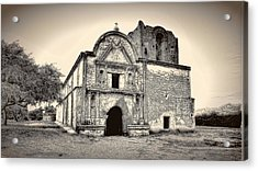 Acrylic Print featuring the photograph Tumacacori  Mission ... by Chuck Caramella
