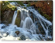 Acrylic Print featuring the photograph Tumbling Waters by Fiskr Larsen