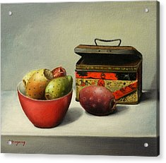 Tunas And Chinese Box Acrylic Print