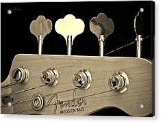 Fender Precision Bass Acrylic Print by Chris Berry