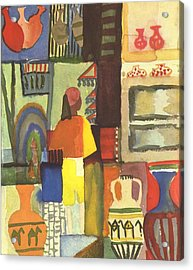Tunisian Market Acrylic Print by August Macke