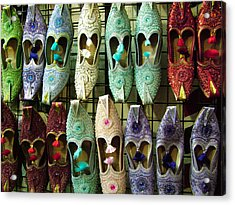 Acrylic Print featuring the photograph Tunisian Shoes by Donna Corless