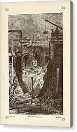 Tunnel Construction Acrylic Print by Art And Picture Collection/new York Public Library