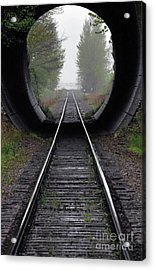 Tunnel Into The Mist  Acrylic Print by Rod Wiens