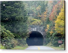 Tunnel On Parkway Acrylic Print by Melony McAuley
