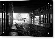 Acrylic Print featuring the photograph Tunnel Reflections by Lynn Palmer